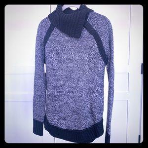 Lululemon Gray Snap Neck Sweater